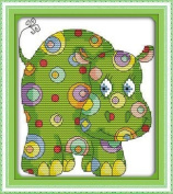 "Joy Sunday Cross Stitch kits, Colourful animal 6),11CT Printed, 105cm×48 or 40.95""×18.72"""