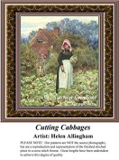 Cutting Cabbages, Fine Art Counted Cross Stitch Pattern