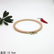 6.1 Inch Cross Stitch Wooden Embroidery Hoop Circle Craft - 15.5cm