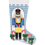 Alice Peterson Home Creations Holiday Edition Needlepoint Stocking Kit-- Nutcracker Soldier