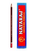 Nataraj Checking Pencils, Red - Pack Of 10