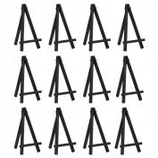 eBoot 12 Pieces 16cm Mini Wood Display Easel, Black