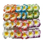 Lot 24 Hawaiian Hawaii Bridal Wedding Party Plumeria Foam Flower Hair Clips