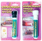 Black and White Window Markers - Temporary Paint for Car or Home Glass Windows