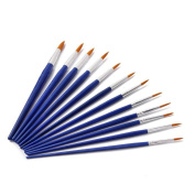 PIXNOR Paint Brush Set Artist Oil Paint Brush Acrylic Paint Pointed Brushes Pack of 12