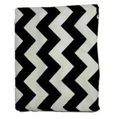 Set of 2 Chevron Portable Crib Sheets, colour: Black