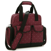 EINSBLUME Mummy Baby Nappy Nappy Satchels Bag Large Capacity Backpack,31x15x34cm,Burgandy