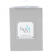 Kushies Baby Ben & Noa Change Pad Sheet Flannel, Grey Solid