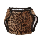 My Blankee Luxe Nappy Cover, Cheetah/Brown, 6-12 Months