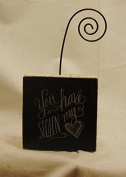 Photo Block You Have Stolen My Heart Wooden Picture Holder