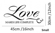MAFENT Love Makes Life Complete Wall Decal Peel And Sticker Love For Valentine Eco Water Proof Home Room Decor