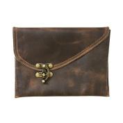 Vintage Leather Clutch Bag Handmade by Hide & Drink :
