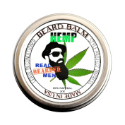 REAL BEARDED MEN 100% Natural Premium Beard Balm 60ml - HEMP - Made in USA