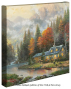 Evening at Autumn Lake - 14 x 53lery Wrapped Canvas