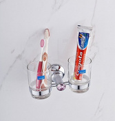 Copper electroplating diamond toothbrush double wall glass ideas