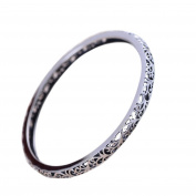 Sterling Silver Bangle Bracelet Hollowed Out Vintage Silver Jewellery