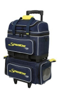 Storm Streamline 4 Ball Roller Bowling Bag- Navy/Grey/Yellow