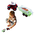 Toy Cubby Farm Tractor and Detachable Trailer with Animal figures or Object