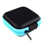 Storage Case Portable Mini Round Bag for Earphone Headphone SD TF Cards Storage