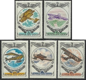 Russia - 1976 MNH 5v. Complete Set. History of Russian Aircraft.