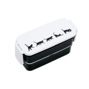 white black cat Bento Box Lunch Box by Fortissimo from Japan