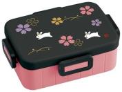 cute black pink rabbit flower Bento Box from Japan
