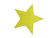 2 pieces YELLOW STAR Iron On Patch Applique Motif Fabric Children Decal 2.9 x 2.6 inches