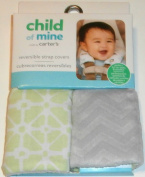 Child of Mine Green and Grey Reversible Strap Covers