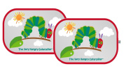 Erlic Carle : The Very Hungry Caterpillar Car Window Shade - Pop Open Cling Sun Shade Set w/ UV Protection