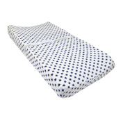 Just Born Vintage Sports Changing Pad Cover, Navy