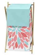 Baby Children Kids Clothes Laundry Hamper for Turquoise and Coral Emma Bedding Set