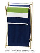 Children Kids Teen Clothes Laundry Hamper for Navy and Lime Stripe Bedding Set