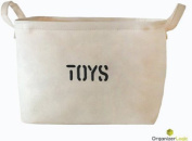 Storage Baskets made from Eco-Friendly Canvas. Storage Bin Works as Baby Storage and Toy Basket, Nursery Basket, fit most shelves