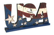 Glitzhome Wood USA Sign, 30cm