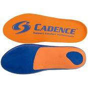Cadence Insoles Orthotic Shoe Insoles ((H) MEN 12.5-13.5, Orange) by Cadence
