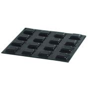 20 Medium Black Square Bumps