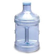 1 Gallon OR 5 Litre BPA FREE Reusable Plastic Drinking Water Big Mouth Bottle Jug Container with Holder Drinking Canteen