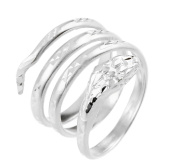 High Polish 925 Sterling Silve Coil Wrap Band Snake Ring