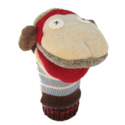 Cate and Levi 30cm Handmade Jungle Monkey Hand Puppet (Premium Reclaimed Wool), Colours Will Vary