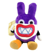 Nabbit New Super Mario Bros U Character Thief Rabbit Plush Toy Stuffed Animal Soft Figure Doll with a Free Badge as Gift 18cm