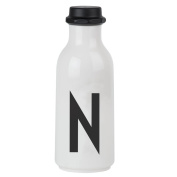 Design Letters AJ Water Bottle with letter - N