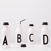 Design Letters AJ Water Bottle with letter - P