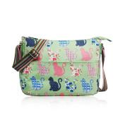SALE Cats & Kittens 'Cath Kidston' Designer Style Matte Canvas Messenger Bag