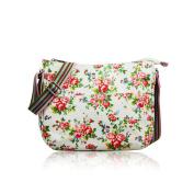 SALE Vintage Flowers 'Cath Kidston' Designer Style Matte Canvas Messenger Bag