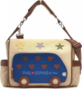 Phil + Sophie, Cntmp, Ladies Handbag, Nappy Nappy Changing Bags Nappy Baby Bag Buggy Bag, Bags, Leather, Canvas - 44 x 30.5 x 9 cm