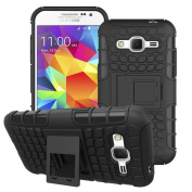 NWNK13 Heavy Duty Tough Shockproof Hybrid Outdoor Case with Stand Plus Screen Film & Touch Pen for Samsung Galaxy J5
