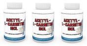 3 Pack Acetylcarnitine HCL 1000 mg each capsule 3 x 120 Capsules high bioavailability Vita World German Pharmacy