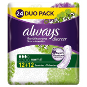 Always Discreet Incontinence Normal Towels and Incontinence X24