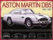 FRENCH VINTAGE METAL SIGN 40x30cm ASTON MARTIN 1963 DB5 JAMES BOND