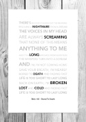 Blink 182 - Bored To Death - Funky Lyric Art Print - A4 Size